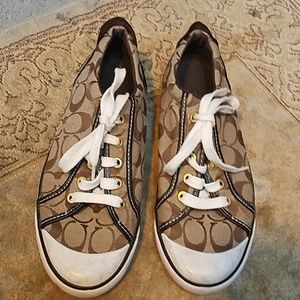 Coach Barret Brown Jacquard Sneakers